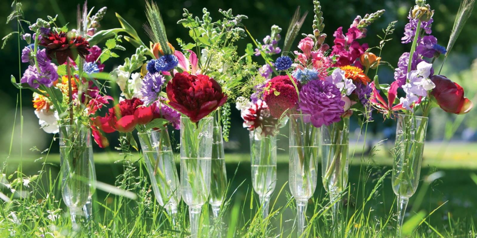 Frühlingsblüher in Vasen